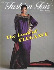 Vintage Ebony Fashion Fair Magazine 1981-82 Look of Elegance Johnson Publication