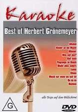 KARAOKE DVD: BEST OF HERBERT GRÖNEMEYER u.a. ALKOHOL * MÄNNER * BOCHUM * CHAOS