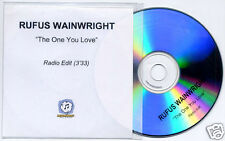 RUFUS WAINWRIGHT The One You Love UK promo test CD radio edit