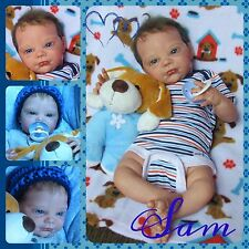 reborn  baby boy By Denise Pratt, micro rooted  lashes & hair  GHSP so cute!