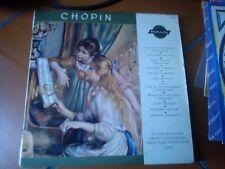 """LP 10"""" 25 CM CHOPIN MINIVOX GUIOMAR NOVAES G. JOHANNESEN M. HORSZOWSKY PIANO EX"""