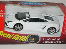 Welly Lamborghini  Gallardo White speed street 1:43 Mint in Window Box