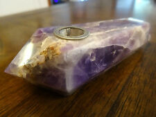 Dream Amethyst Crystal Wand Smoking Pipes No Glass or Dyes  4B   Ships From USA