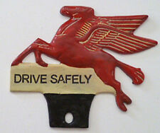 Pegasus License Plate Holder Topper Nostalgia Hot Rod Man Cave With STP DECALS