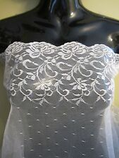 """12"""" FLORAL LACE Trim BTY - IVORY"""