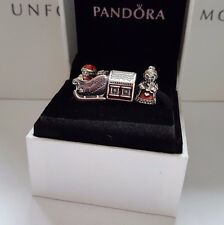 Auth Pandora Sterling Silver Mr. & Mrs Santa Claus at the North Pole Gift Set