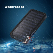20000mAh Waterproof Portable Solar Charger Dual USB Battery Power Bank For Phone