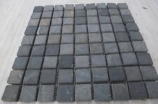 Sample Grey Tumbled Marble 3 cm by 3 cm Mosaic wall tiles kitcheen & bathroom