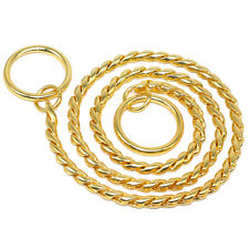 20'' Gold Snake Chain Dog Collars Heavy Metal Chain Dog Training P Choke Collar