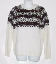 H&M Ladies Alpaca Blend Jacquard Knit Beaded Embroidery Pullover Sweater S NWT