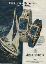 Publicité Advertising 1990  /// montre   MICHEL  HERBELIN   Newport