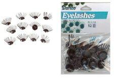 Doll Eyelashes - Black - 12 pieces- Puppet Eyelashes fnt