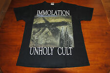 "Immolation ""Unholy Cult"" L Large shirt Bolt Thrower Incantation Autopsy Entombed"