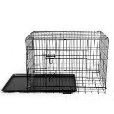 Cage de Transport pour Chien en Métal Zingué Couleur Noir XL 107cmx69cmx76cm