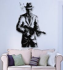 Wall Stickers Vinyl Decal Gangster Hat Weapons Mafia Cigar Tommy-Gun (ig855)