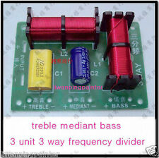 1pcs New  Multi Speaker 3 Unit Audio Frequency Divider 3 Way Crossover Filters