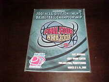 2001 NCAA Tournament Basketball Program East Regional Kentucky Wildcats Duke