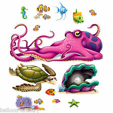 Underwater Marine Life Party Scene Setter Add-on Prop Decoration OCTOPUS & FISH