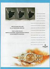 BELLEU998-PUBBLICITA'/ADVERTISING-1998- ROLEX LADY-DATEJUST (versione B)