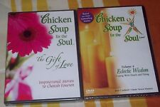 LOT OF 2 Chicken Soup for the Soul Live DVDS-THE GIFT OF LOVE & ECLECT WISDOM