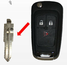 New Flip Remote Key Entry Replacement Blade Blank Uncut For Gm Chevy Spark