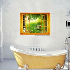 Hot Home Decoration Art Vinyl Mural Wall Sticker Window Forest View Decal Paper