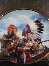 Franklin Mint IN THE BEGINNING ..FRIENDS... Indian Ltd Ed Plate
