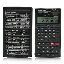 358 Function Scientific Statistics Fraction Electronic Calculator W/ Clock Cover