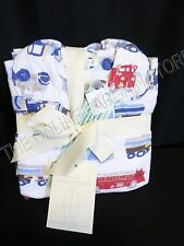 Pottery Barn Kids Things That Go Trucks Cars Flannel Pajamas Pants Shirt Size 6