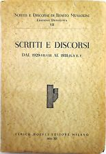 J 9948 VOLUME SCRITTI E DISCORSI DI BENITO MUSSOLINI – N. 7: SCRITTI E DISCOR...