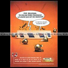 ASTERIX & Fromage VACHE QUI RIT Mission Cléopatre 2001 Pub / Publicité / Ad #A22