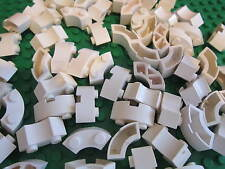 LEGO 10 x Brick Tower / Round Corner 2 x 2 Macaroni WHITE - MIXED TYPES