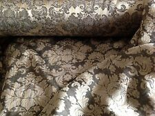 NEW Antique Gold Reversible Floral Jacquard Brocade Fabric Dress Sharara Langa