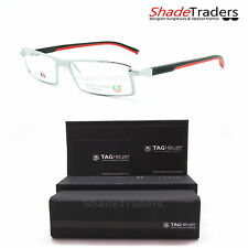TAG Heuer AUTOMATIC RIMMED OPTICAL GLASSES FRAME SILVER BLACK RED TH0803 002 54