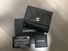 Authentic Chanel Patent Leather Small Double Flap Wallet - Black with Gold CC