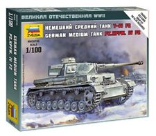 Zvezda 6251 German Medium Tank Pz.Kpfw.IV F2 Plastic Model Kit 1/100 Scale