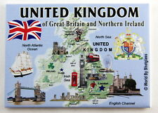 "UNITED KINGDOM ENGLAND FRIDGE COLLECTOR'S SOUVENIR MAGNET 2.5"" X 3.5"""