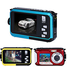 Double Screen Waterproof Camera 24MP 16x Digital Zoom Dive Full HD Video Camera