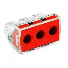 Wago 773-173 Push Wire Connector 3 Cable Red  x 10