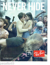 PUBLICITE ADVERTISING 086  2012  les lunettes solaires Ray-Ban Never Hide