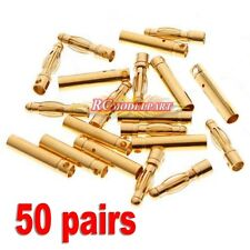 20pairs/lot 4.0mm 4mm Gold Bullet Connector Battery ESC Plug