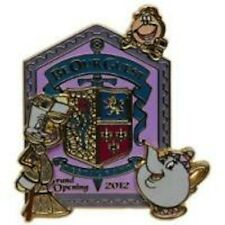 Disney Pin Beauty Beast New Fantasyland Be our Guest Restaurant Opening LE MOC