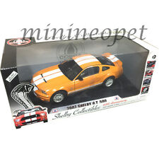 COLLECTIBLES 40th ANNIVERSARY 2007 FORD SHELBY GT 500 1/18 ORANGE WHITE STRIPES
