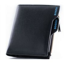 Bogesi PU Leather Bifold Wallet Credit Card Holder for Men's (Black)