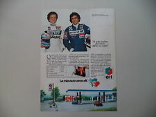 advertising Pubblicità 1982 ELF e ALAIN PROST/MAURO BALDI