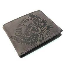 New Irish Guinness Grey Leather Wallet - Bifold - Ireland - Licensed Stock