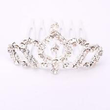 Fashionable Rhinestone Bridal Hair Clip Wedding Crown Comb Tiara Small Silver