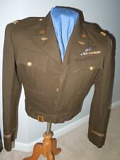 WWII 8th USAAF British Made Ike Uniform Jacket Wings Bullion DFC AM Major