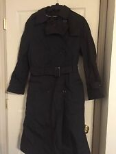 Military Trench Coat Garrison CollectionWomens All Weather Black  Size 12 S
