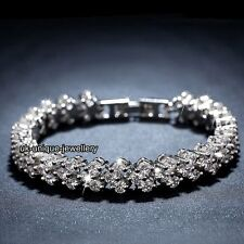 AAA Crystal Tennis Bracelet Silver Valentine Gifts For Her Girlfriend Wife Women